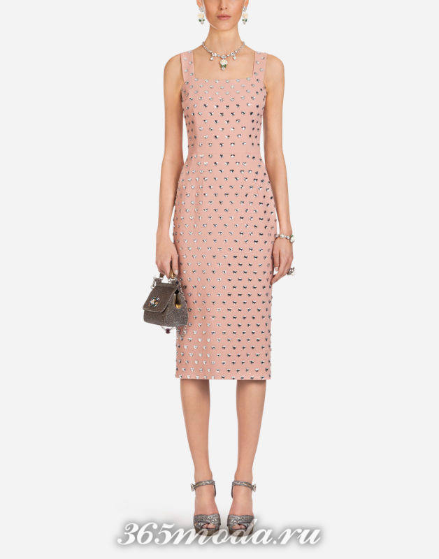 Модное платье миди весна-лето 2018