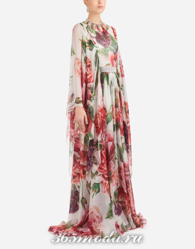Модное платье макси весна-лето 2018