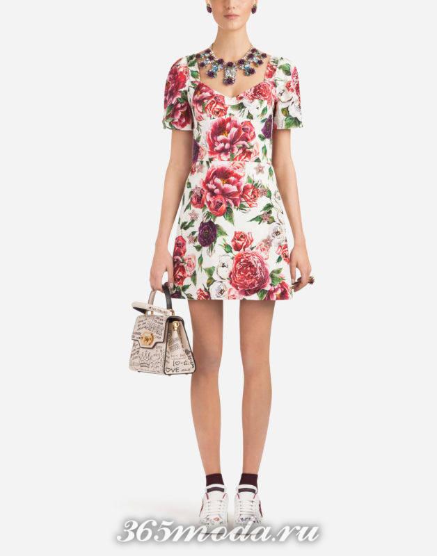 Модное платье мини весна-лето 2018