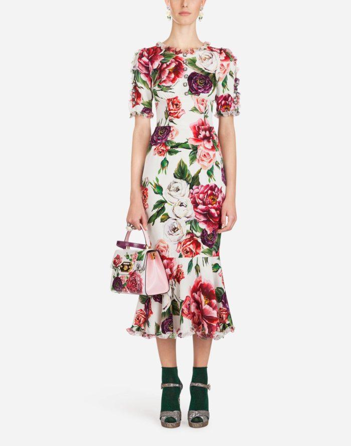 Модное платье миди весна-лето 2019