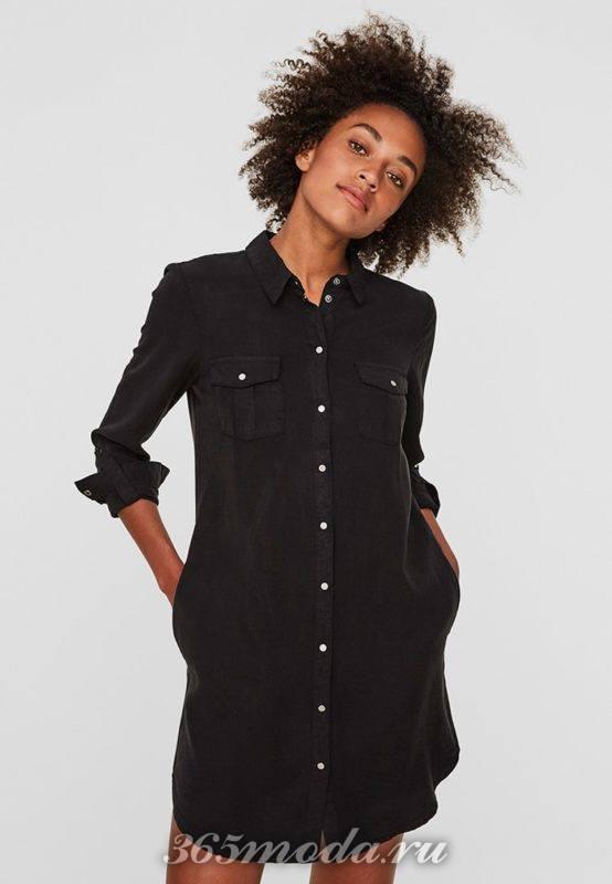 Модное повседневное платье рубашечного покроя весна-лето 2018