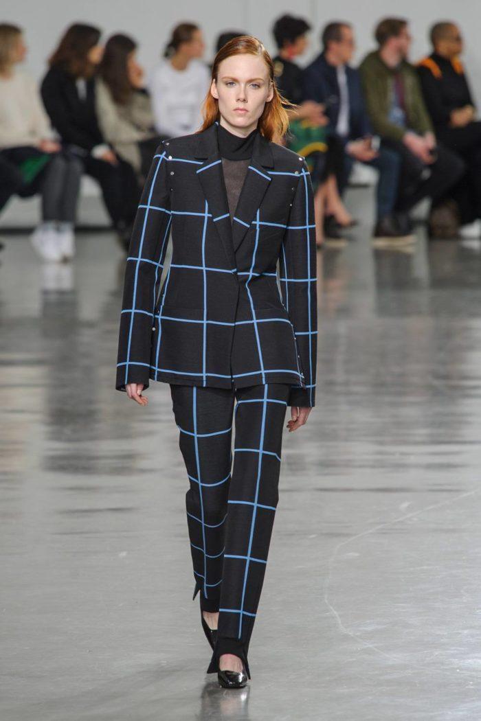 Модные принты весна-лето 2019: Брючный костюм в клетку