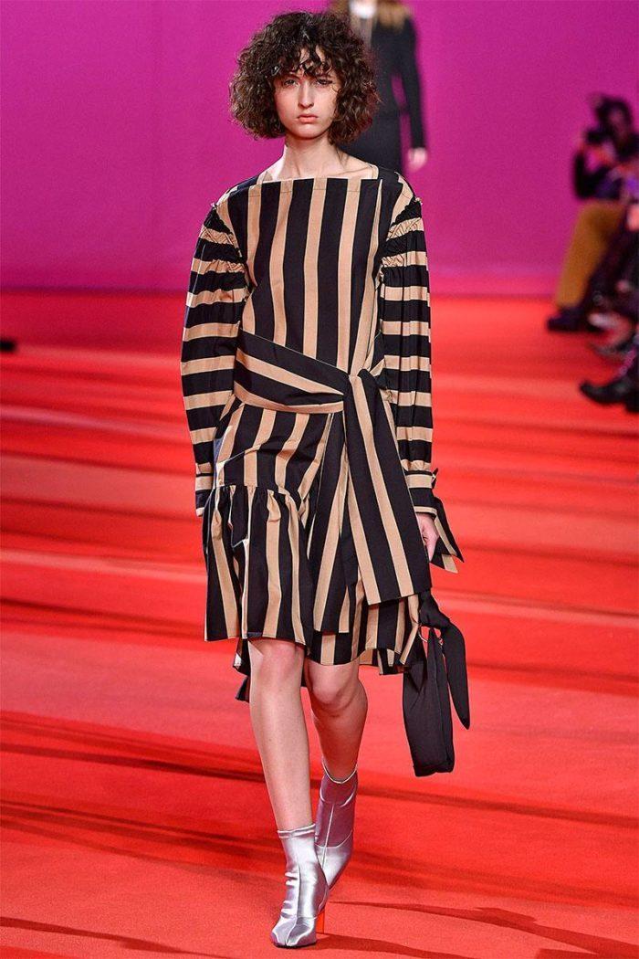 Модные принты весна-лето 2019: Платье в полоску