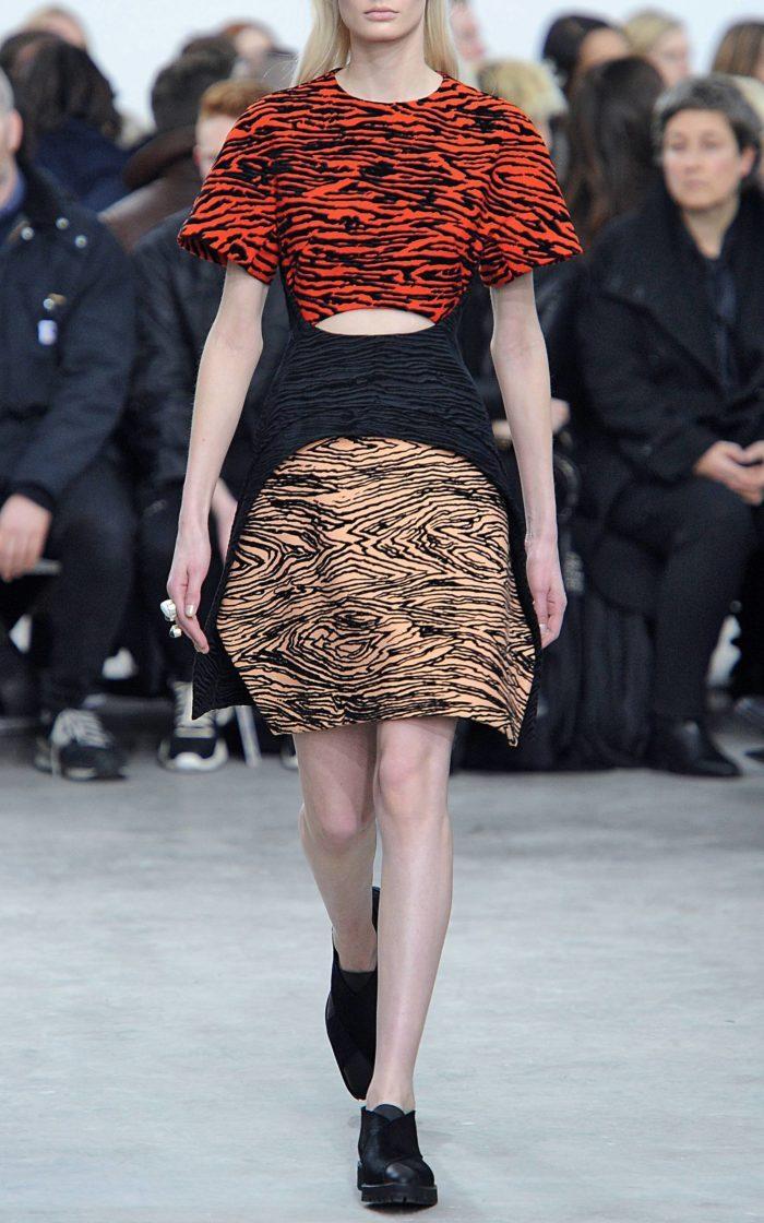 Женский Образ комбинированным принтом