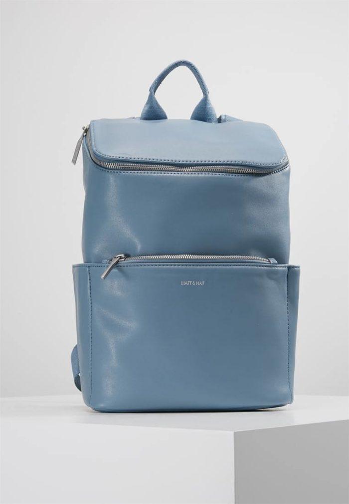 бледно-голубой модный рюкзак с молнией
