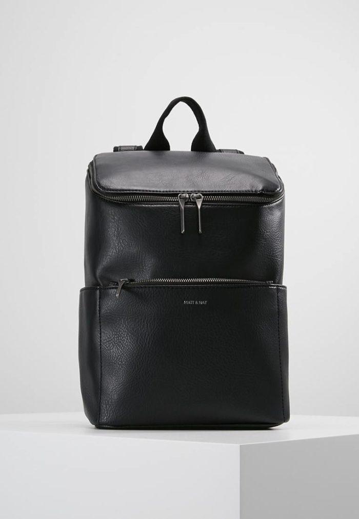 черный рюкзак с ручкой и молнией