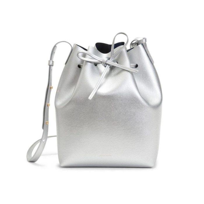 сумка-мешок серебряная