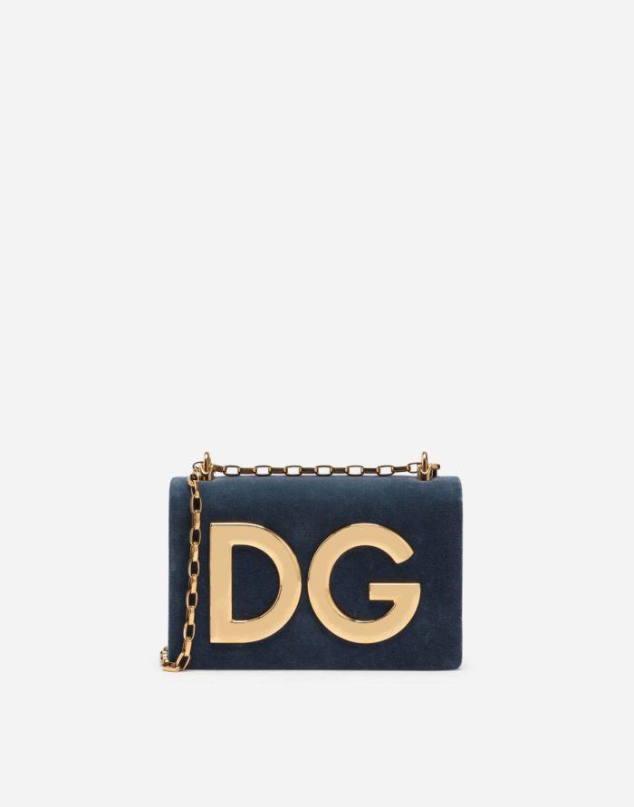 замшевая синяя буквы DG золото