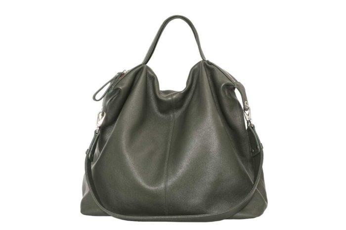 сумка-мешок болотного цвета