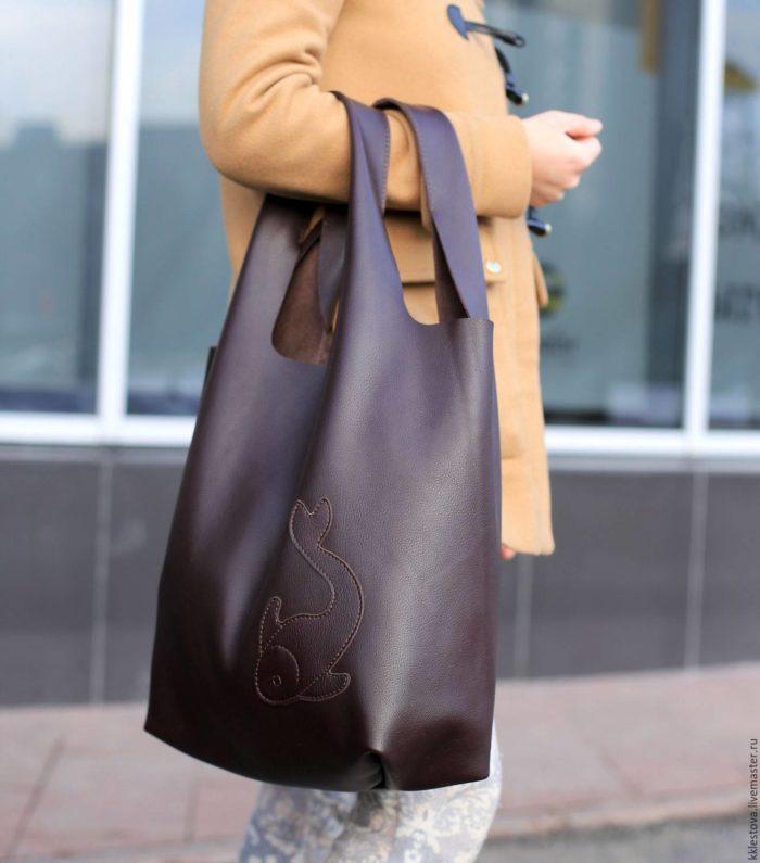 сумка-мешок с узором