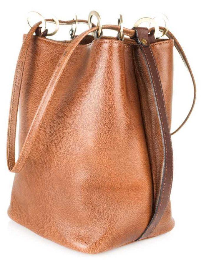 сумка-мешок коричневый цвет