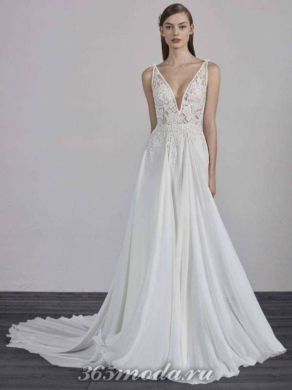 Модное свадебное платье весна-лето 2018