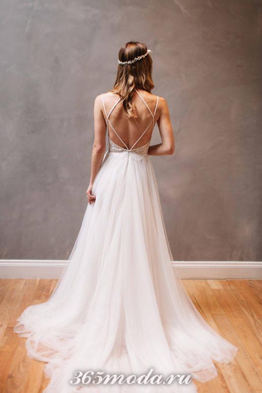 Модные свадебные платья с открытой спиной весна-лето 2018