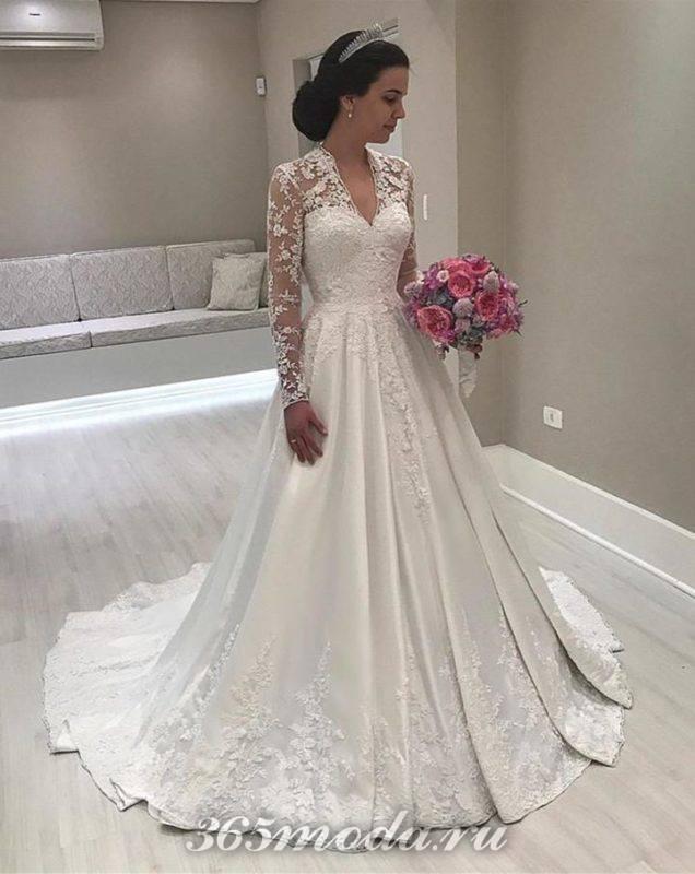 Модные кружевные свадебные платья весна-лето 2018