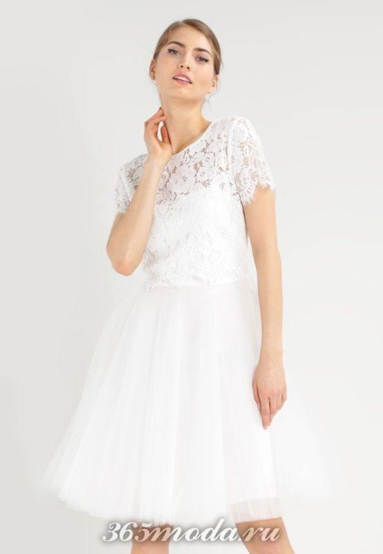 Модные короткие свадебные платья весна-лето 2018