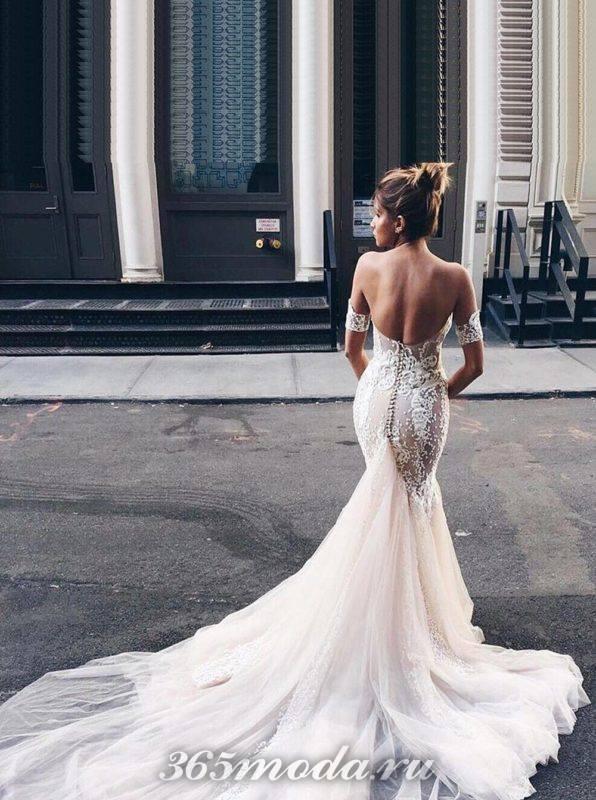 Модные свадебные платья со шлейфом весна-лето 2018
