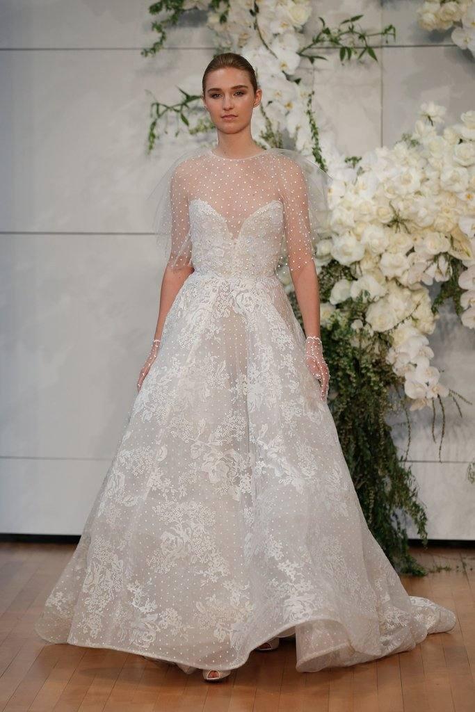 Модные свадебные платья от Monique Lhuillier весна-лето 2019
