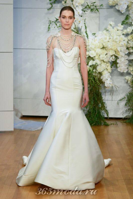 Модные свадебные платья от Monique Lhuillier весна-лето 2018