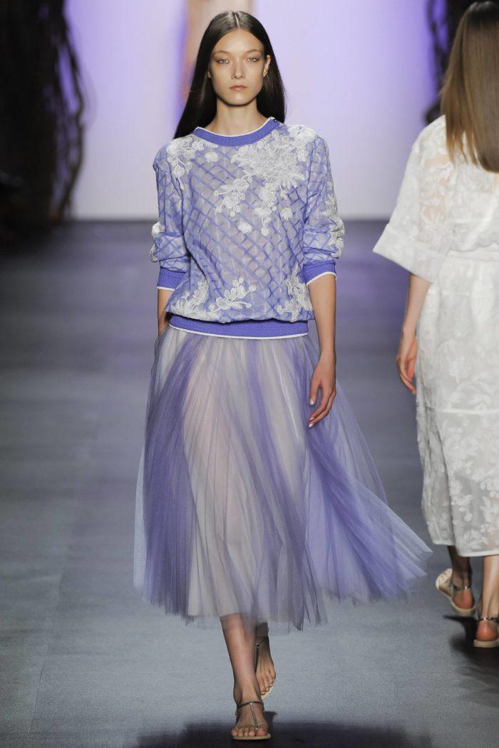 юбка и кофта цвета Серенити