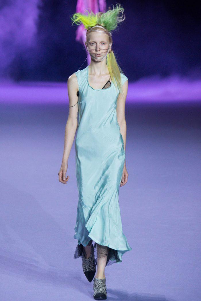 Платье цвета Перламутрово-бирюзовый