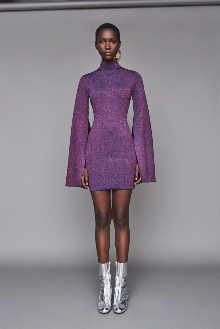 Платье Лилово-серого цвета