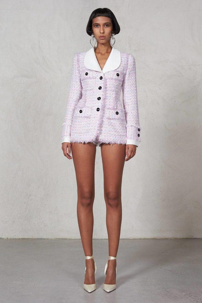 Пиджак Лилово-серого цвета