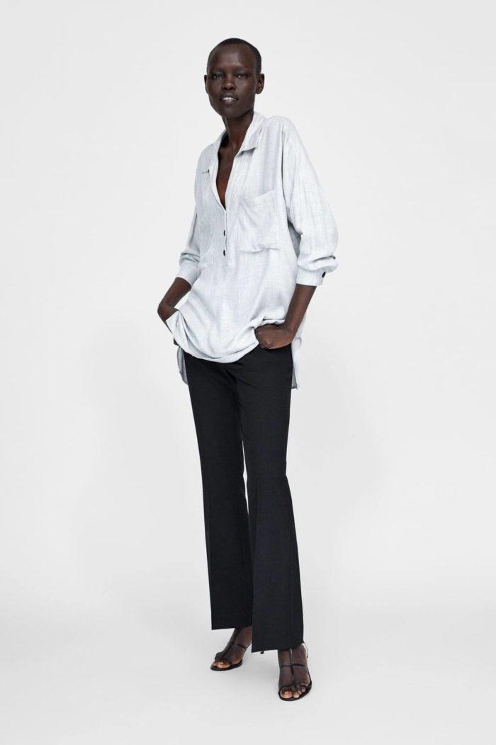 Модные туники весна-лето 2019: белая