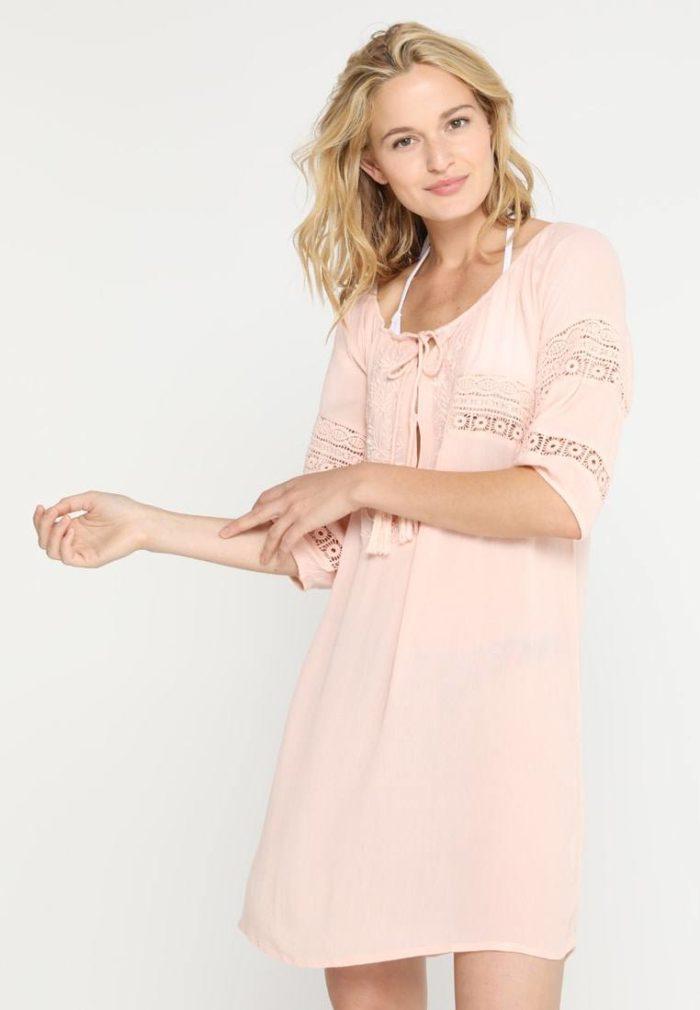Туника прозрачная розовая