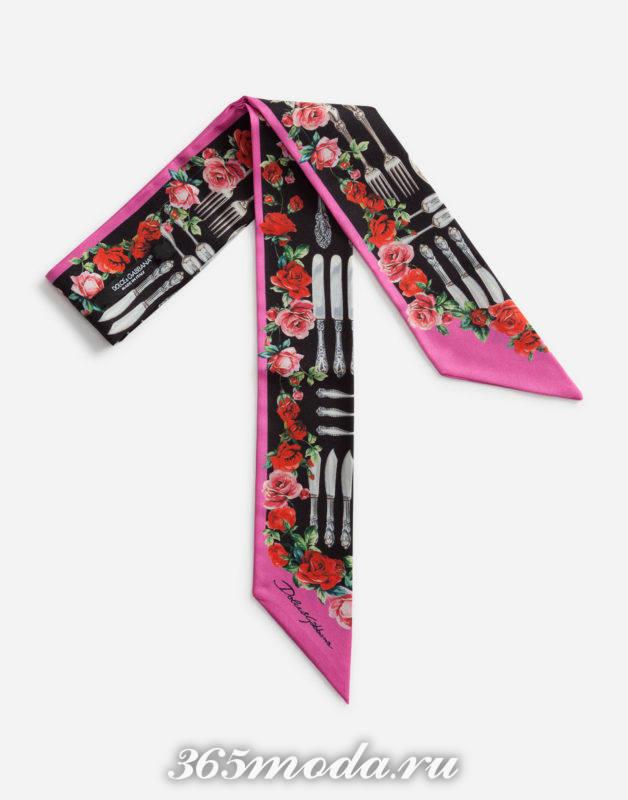 Модные платки и шарфы весна-лето 2018