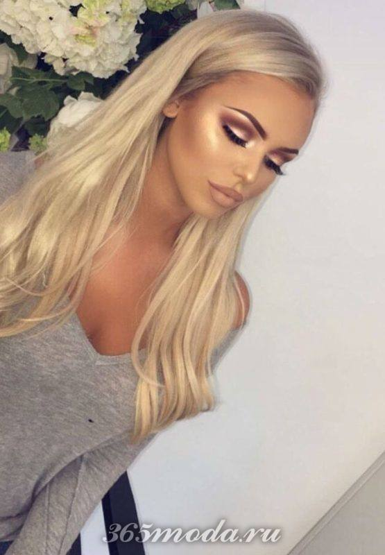 Модный макияж для блондинок на выпускной 2019