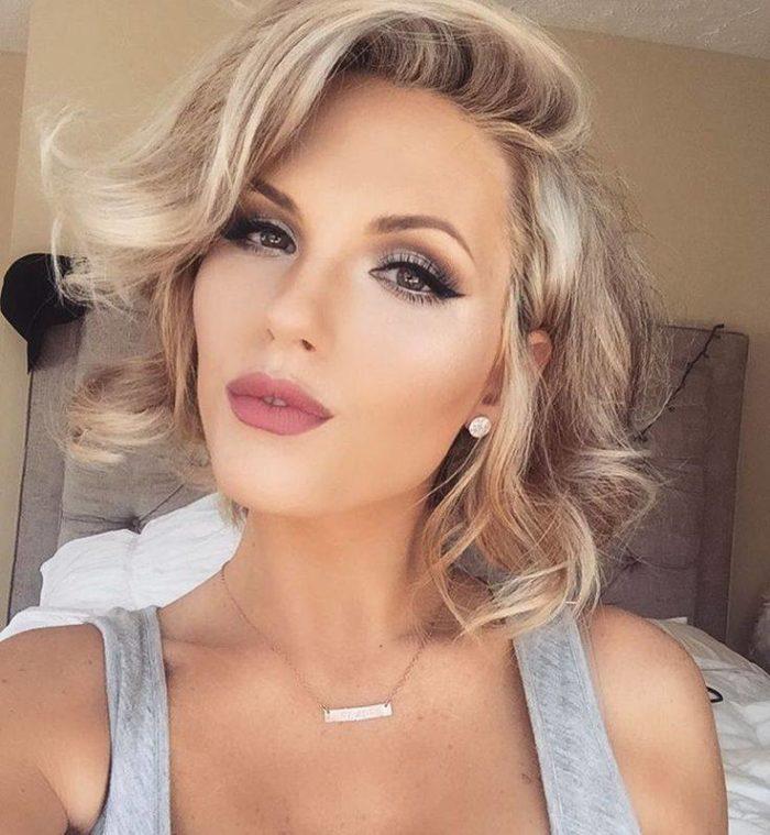 Модный макияж для блондинок на выпускной