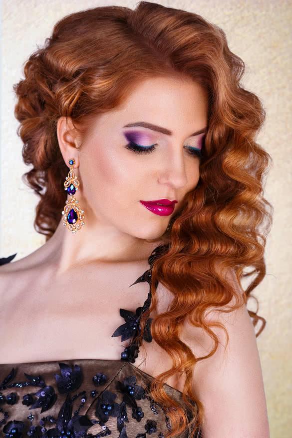 Модный макияж для рыжих на выпускной