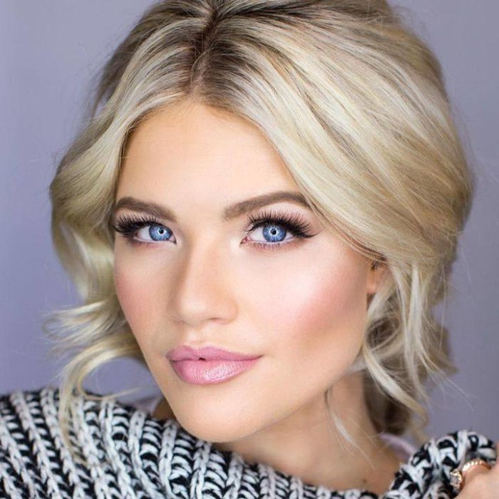 Модный макияж для блондинок на выпускной 2021