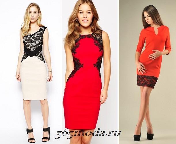 Платье из кружева новый год