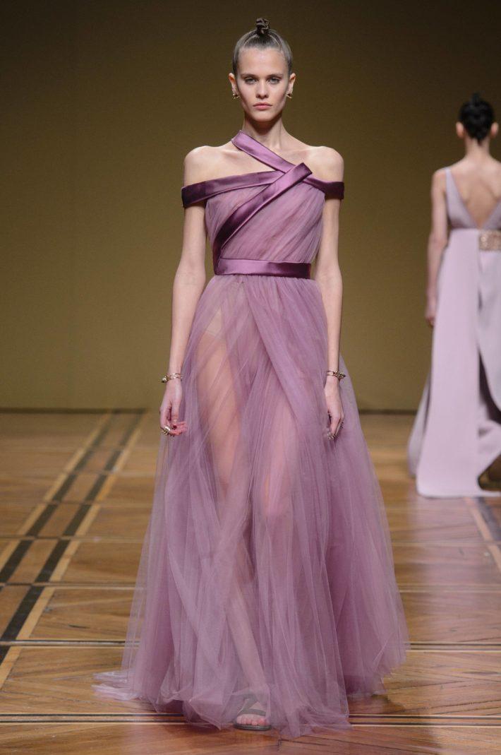 Красивое платье фиолетовое