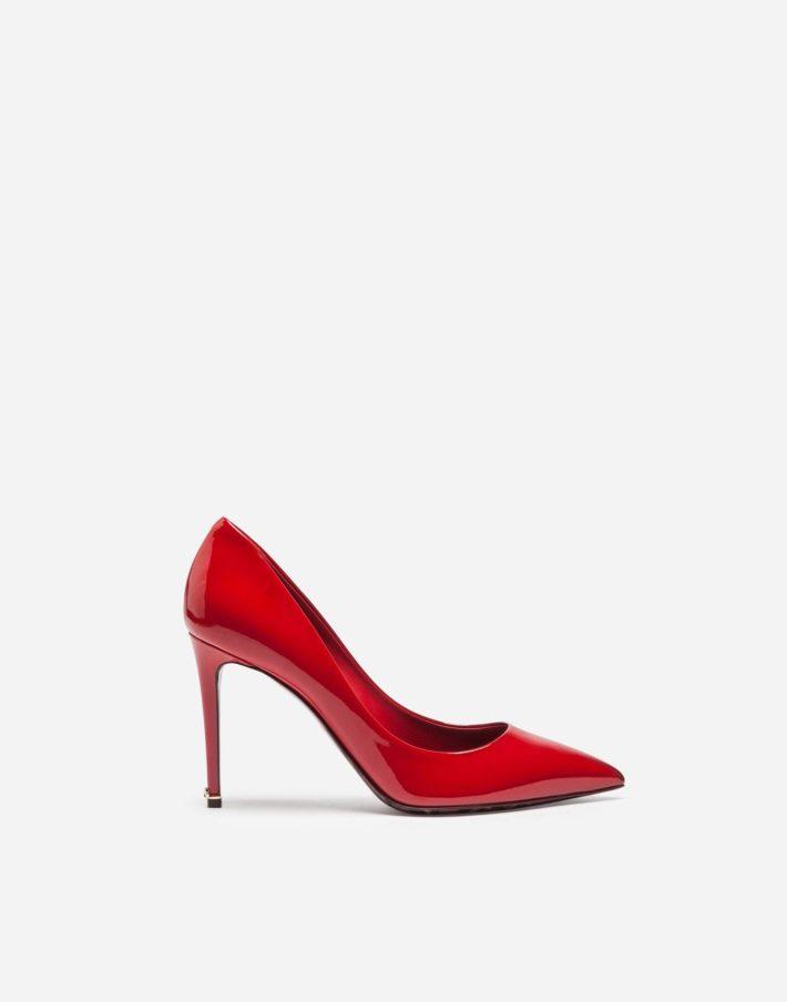 Женские туфли красные