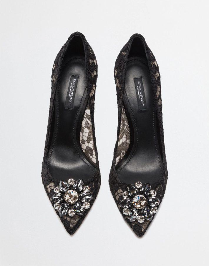 Женские туфли черные