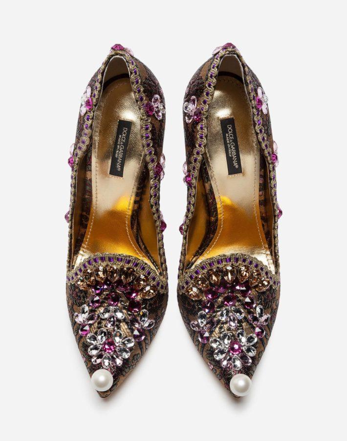 Женские туфли золотые