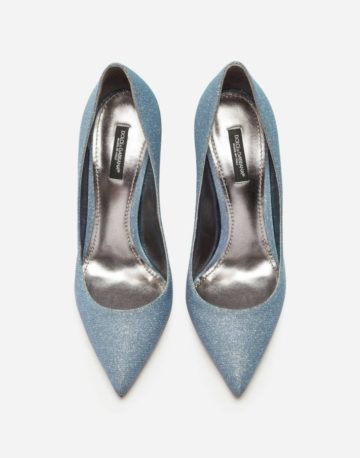 Женские туфли голубые