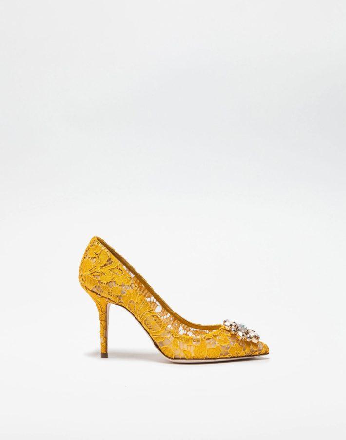Женские туфли желтые