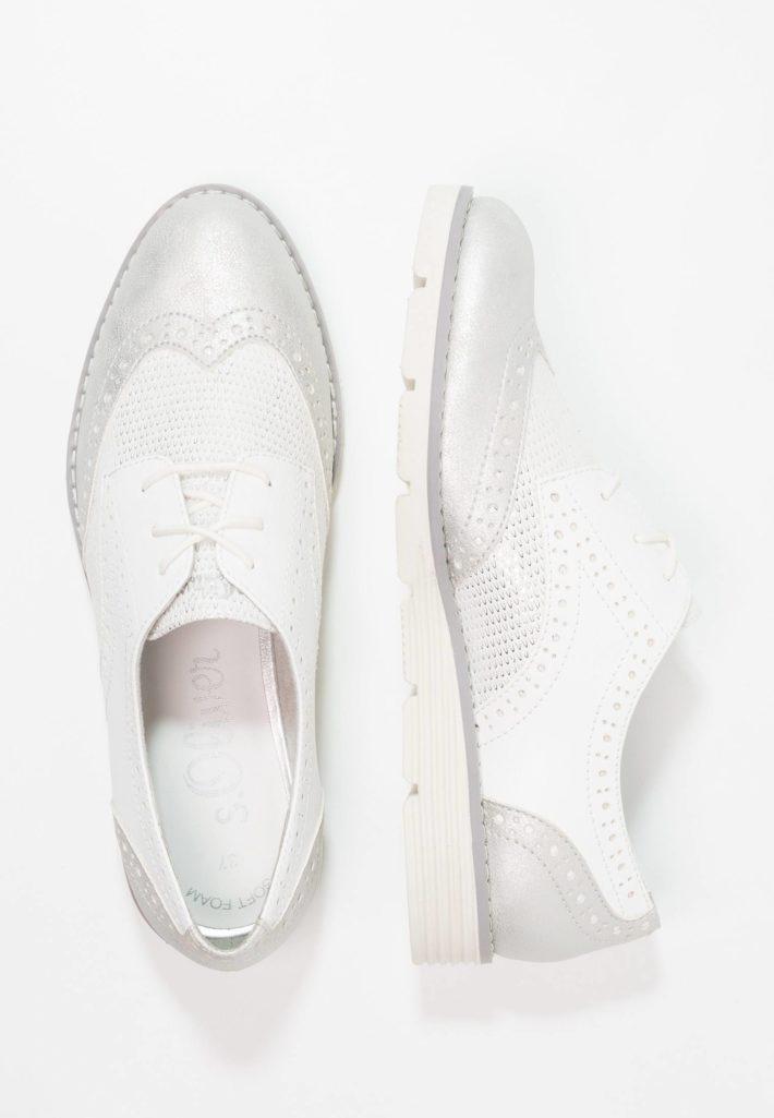 Женские туфли белые