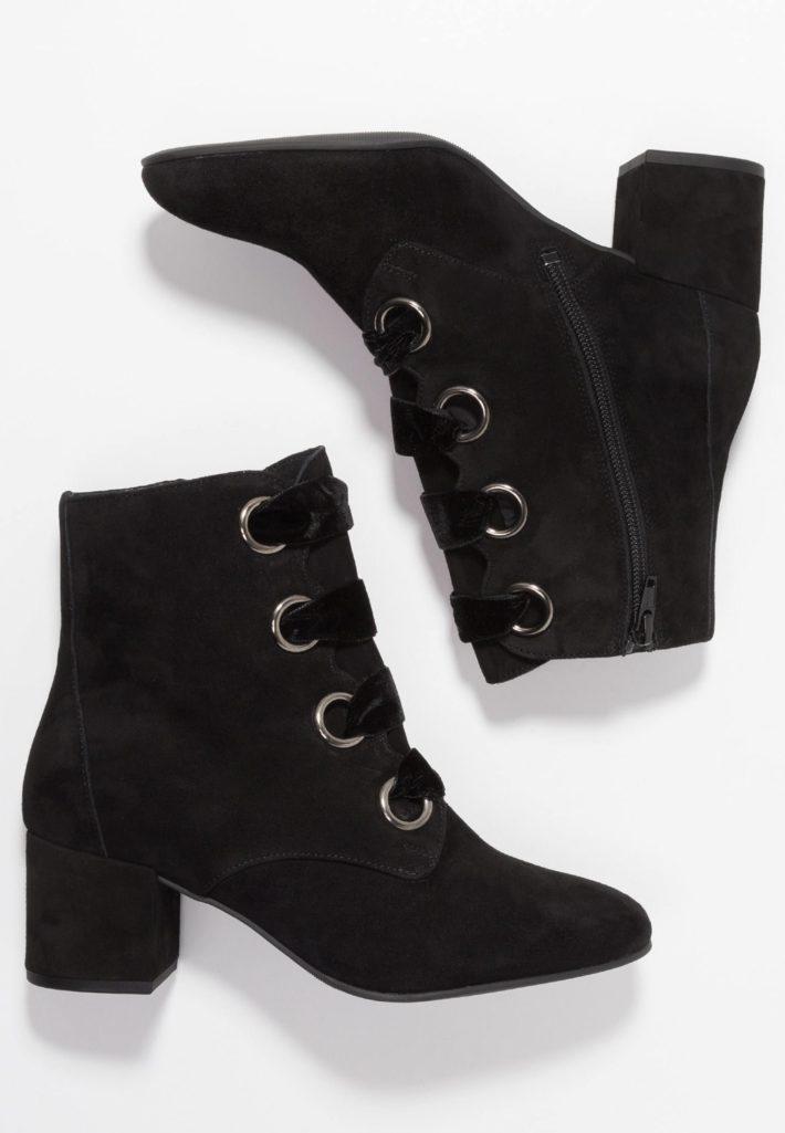 Модная обувь осень-зима 2019-2020: Женские ботильоны черные