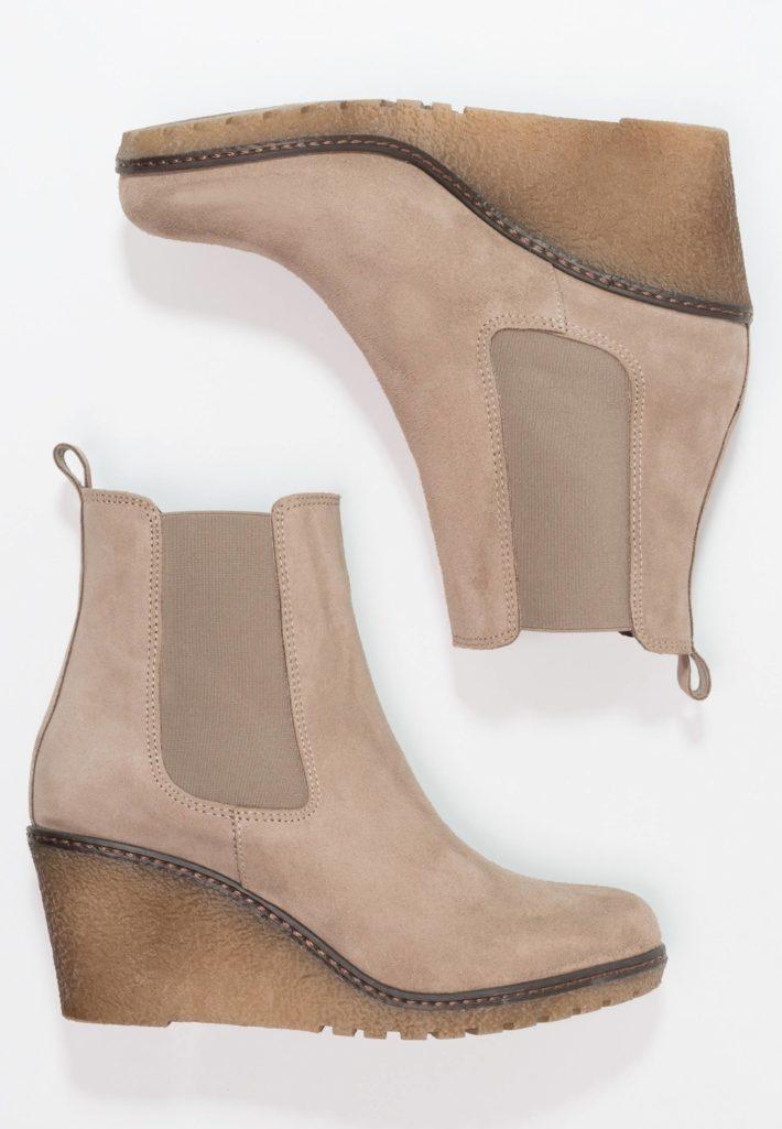 Модная обувь осень-зима 2019-2020: ботильоны бежевые