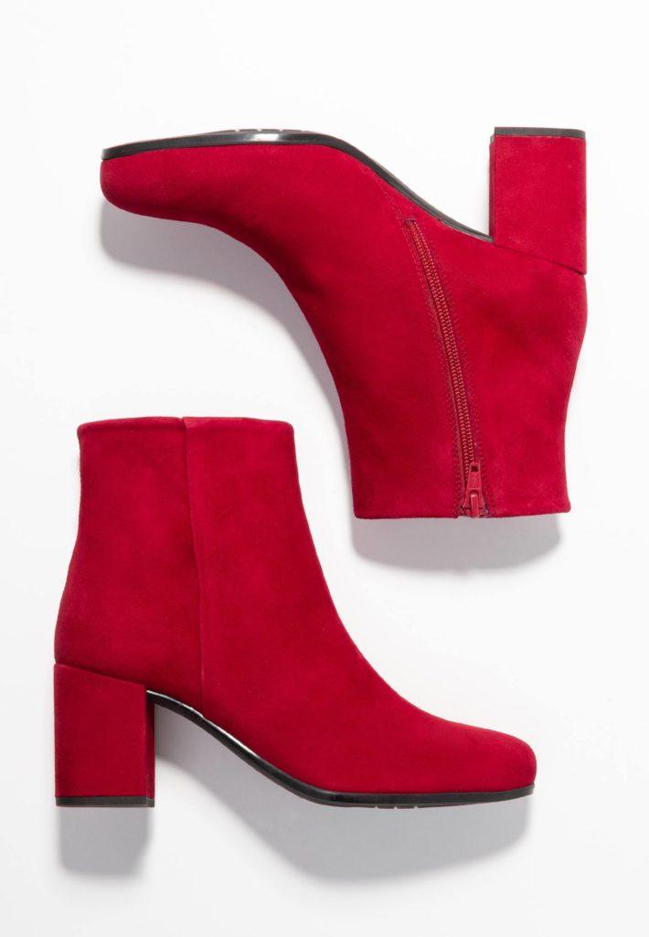 Модная обувь осень-зима 2019-2020: ботильоны красные