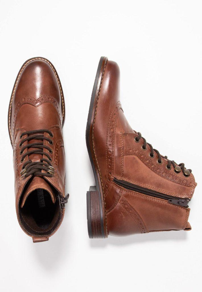 Женские ботинки коричневые