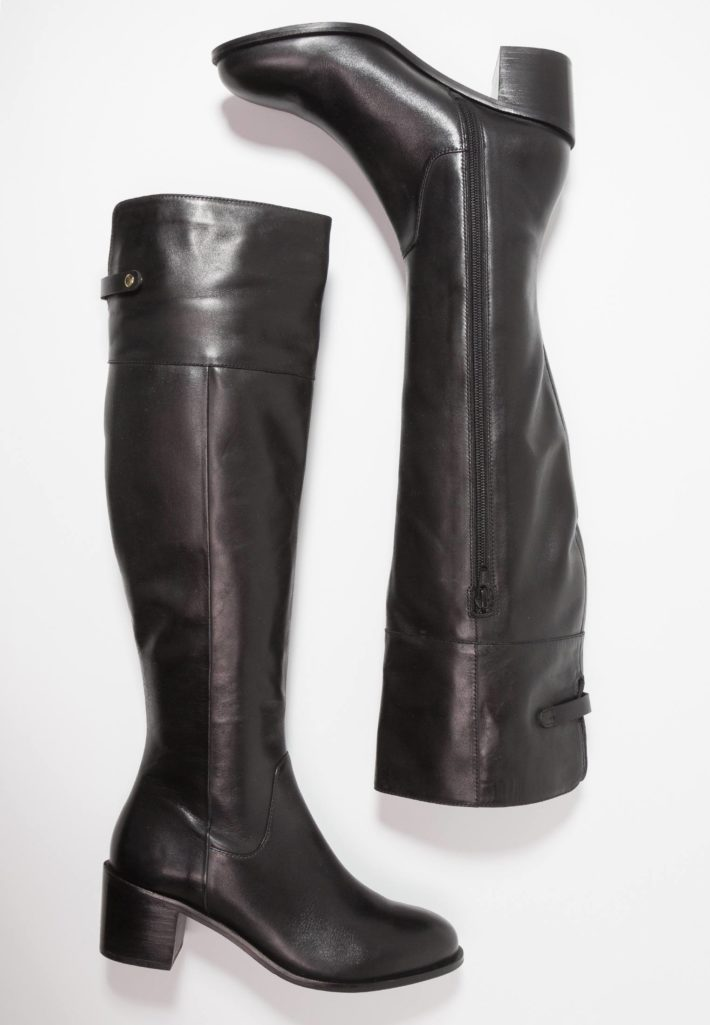 обувь осень-зима 2019-2020: сапоги черные