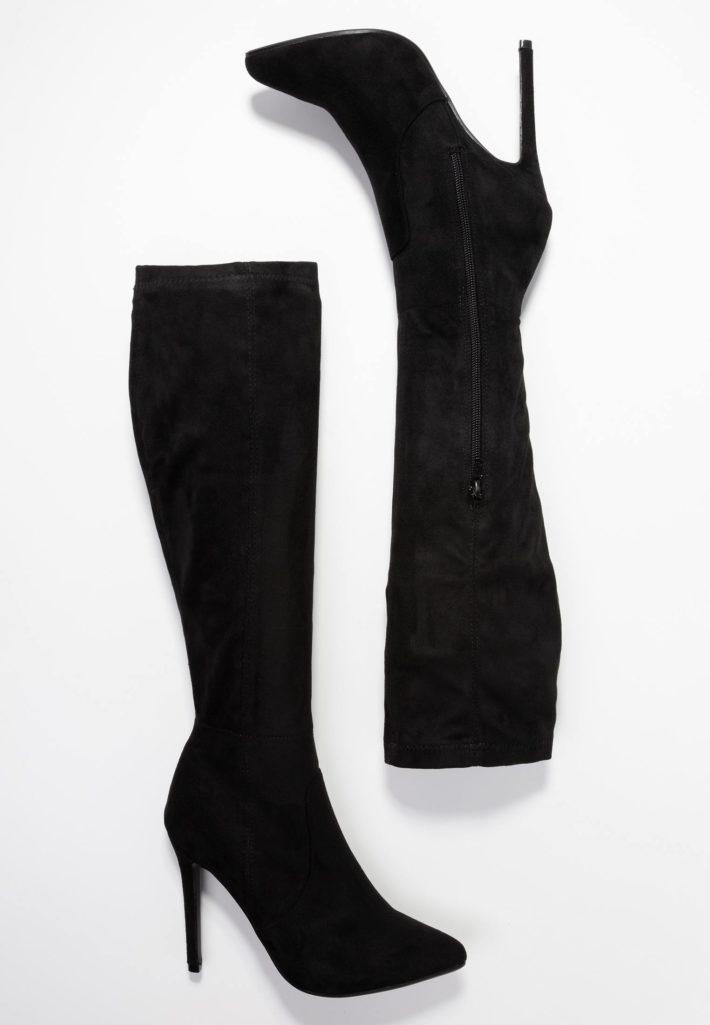 Модная обувь осень-зима 2019-2020: Сапоги женские черные