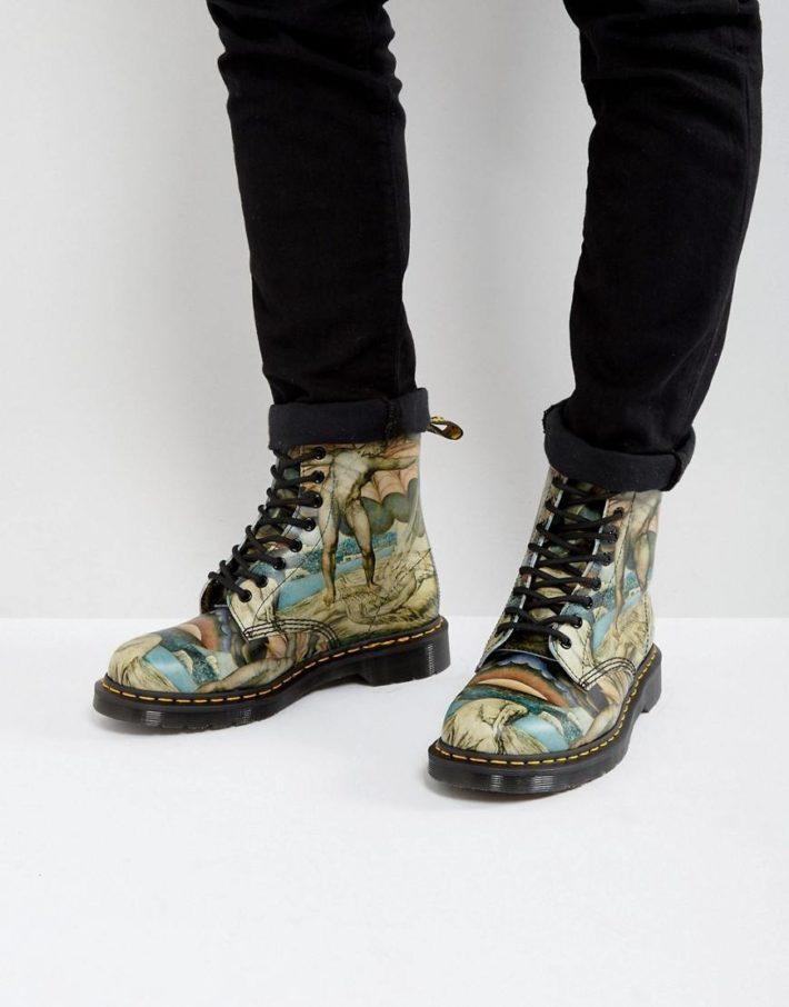 Принтованые женские ботинки