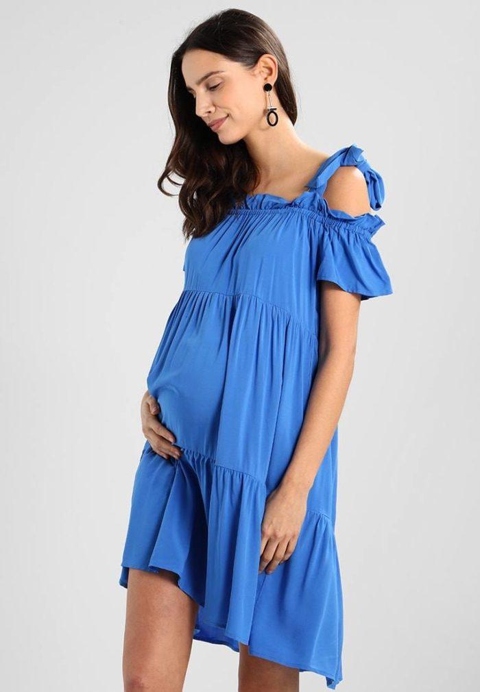 Синее платье для беременных