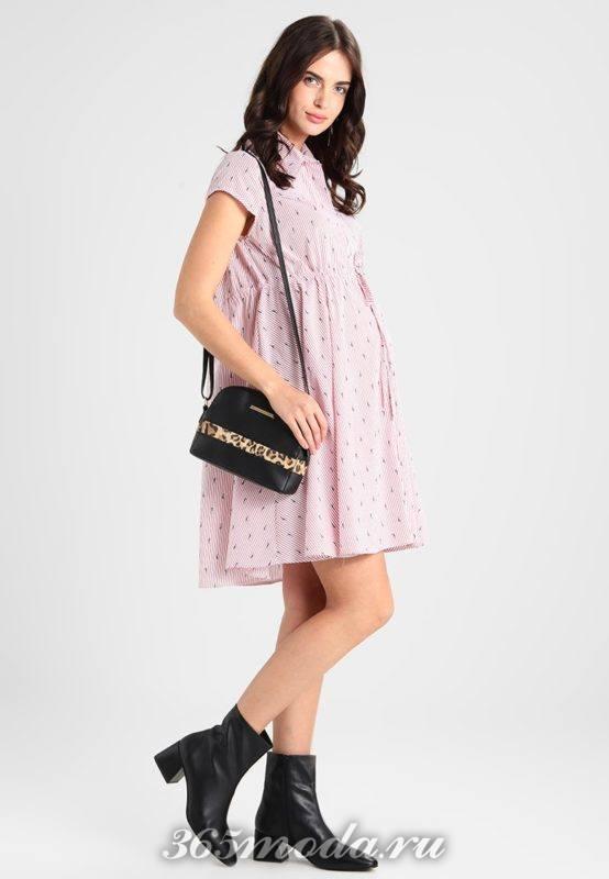 Розовое платье для беременных